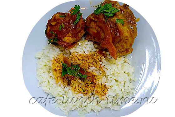 чахохбили из курицы с рисом отварным